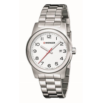 Wenger Men's Bracelet Watch - Field Color White Dial Stainless Steel | 01.0441.149