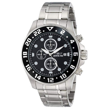 Invicta 15938 Men's Specialty Black Dial Steel Bracelet Chronograph Watch