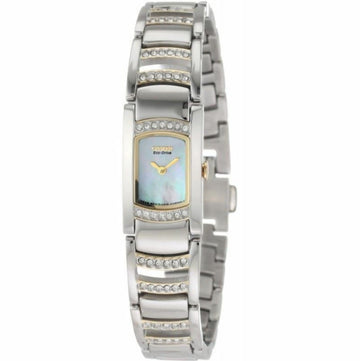 Citizen Women's Two Tone Watch - Silhouette Crystal Eco Drive MOP Dial | EG2734-56D