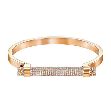 Swarovski Women's Bangle - Friend Rose Gold, Small | 5255656