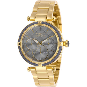 Invicta Women's Quartz Watch - Bolt Grey Dial Yellow Gold Bracelet | 28958