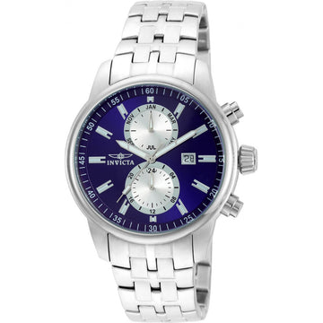 Invicta Men's Chrono Watch - Specialty Blue Dial Stainless Steel Bracelet | 21557