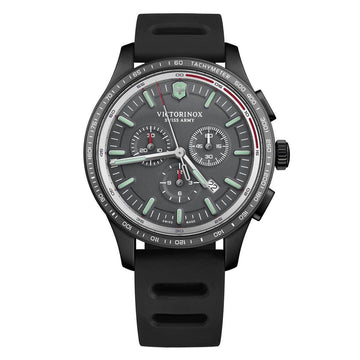 Victorinox Swiss Army Strap Watch - Men's Alliance Sport Chronograph Grey Dial | 241818