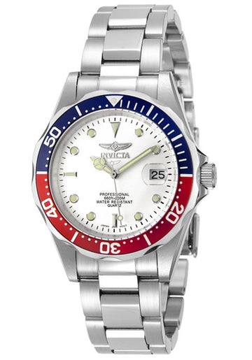 Invicta Men's Stainless Steel Watch - Pro Diver Quartz White Dial | 8933