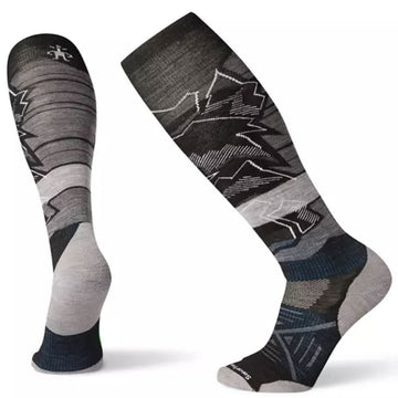 Smartwool Men's Socks - PhD Ski Light Elite Pattern, Black, Large | SW000362-001-L