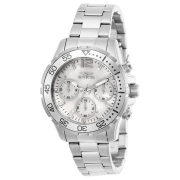 Invicta Women's Chrono Watch - Pro Diver MOP and Silver Tone Dial Bracelet | 29455