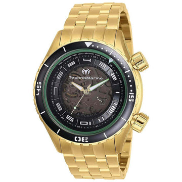 Technomarine Men's Automatic Watch - Dual Zone Yellow Gold Bracelet | TM-218012