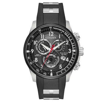 Citizen Men's Alarm Watch - Perpetual Chrono A-T Eco-Drive Black Dial | AT4138-05E