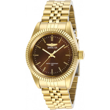 Invicta Women's Quartz Watch - Specialty Brown Dial Yellow Gold Bracelet | 29410