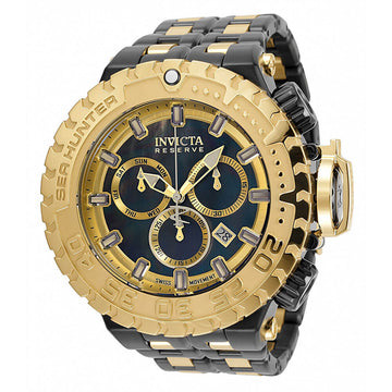 Invicta Men's Chronograph Watch - Sea Hunter MOP and Gold Dial Bracelet | 34597