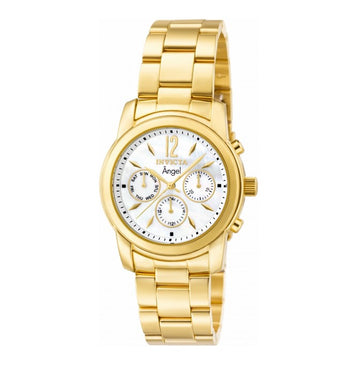 Invicta 0465 Women's Angel MOP White Dial Gold Plated Steel Bracelet Watch