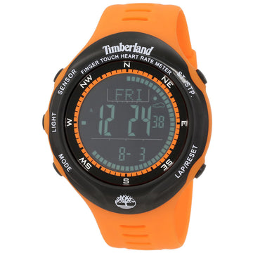 Timberland Men's Digital Watch - Washington Summit Orange Rubber Strap | 13386JPOB-02