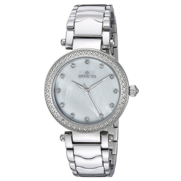 Invicta Women's Stainless Steel Watch - Wildflower Crystal White Oyster Dial | 22193