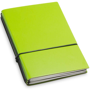 X17 Leather Notebook - A6 Bonded Plain, Squared and Lined, Yellow, 3 Inlays | 1-406-3Y