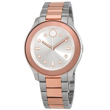 Movado Women's Watch - Bold Quartz Silver Tone Dial Two Tone Bracelet | 3600430