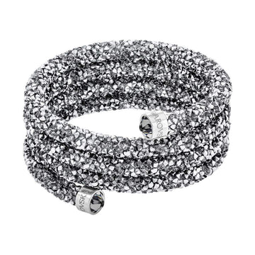 Swarovski Crystaldust Wide Bangle, Small - Gray | 5292443