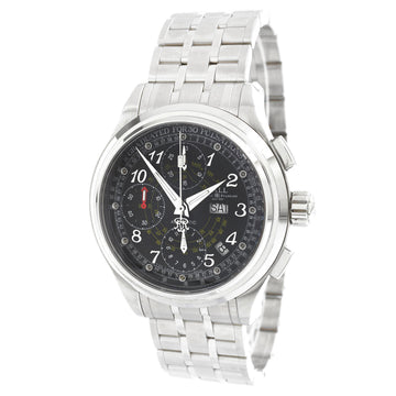 Ball Men's Chronograph Watch - Trainmaster Black Dial Bracelet | CM1010D-SJ-BK