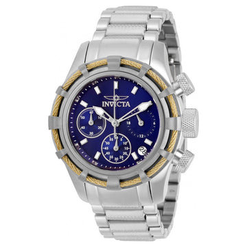 Invicta Women's Chronograph Watch - Bolt Blue and Silver Tone Dial Bracelet | 30472