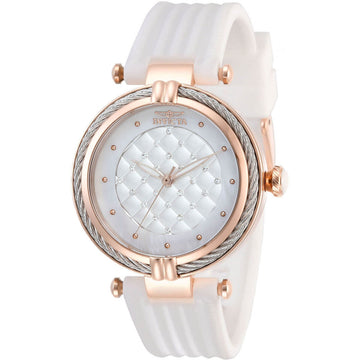 Invicta Women's Quartz Watch - Bolt Rose Gold Case White Rubber Strap | 28946