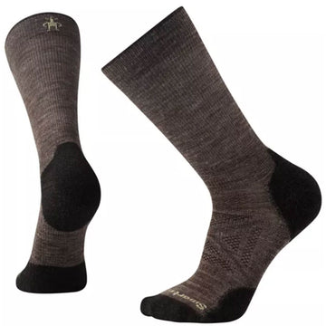 Smartwool Men's Crew Socks - PhD Outdoor Hiking, Taupe, Large | SW001069-236-L