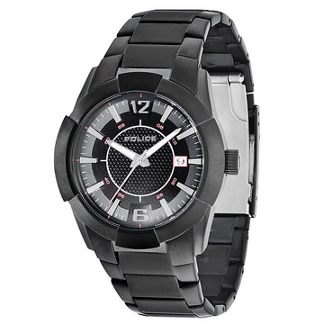 Police PL-12547JSB-02M Men's Sincere Black Ion Plated Steel Bracelet