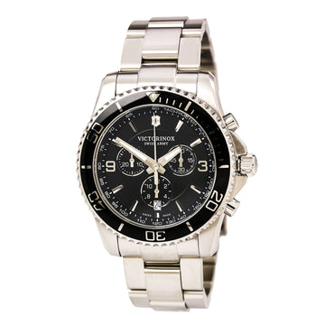 Victorinox Swiss Army 241695 Men's Maverick Chronograph Black Dial Stainless Steel Bracelet Watch