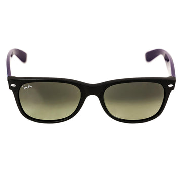 Ray-Ban RB 2132 6183-71 55 New Wayfarer Bicolor Black Nylon Frame Grey Gradient Lenses Unisex Sunglasses