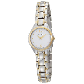 Seiko SUJG06 Women's Dress White Dial Two Tone Steel Bracelet Watch