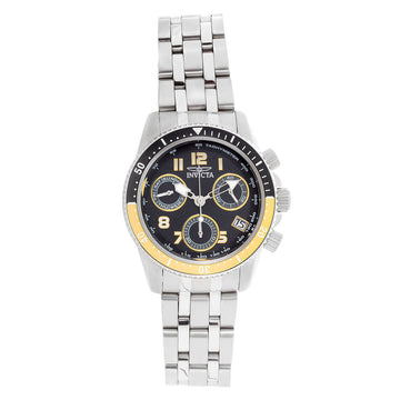 Invicta Women's Chronograph Watch - Pro Diver Black Dial Steel Bracelet Dive | 24636