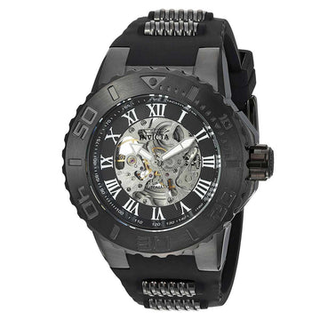 Invicta 24744 Men's Pro Diver Black & Silver Skeleton Dial Watch
