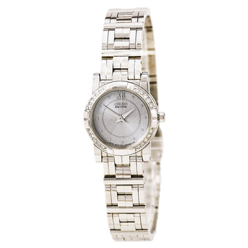 Citizen Women's Diamond Watch - Elektra Eco Drive Steel Bracelet Silver Dial