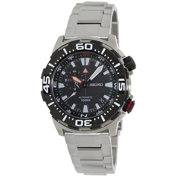Seiko SSA049 Men's Superior Black Dial Stainless Steel Automatic Watch