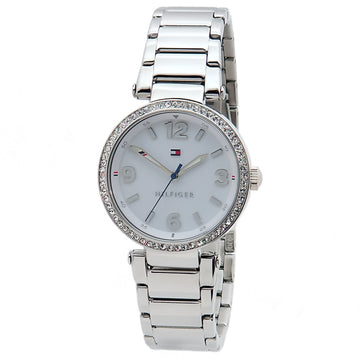 Tommy Hilfiger 1781589 Women's Lynn Crystal Silver Dial Stainless Steel Bracelet Watch