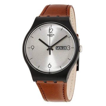 Swatch SUOB721 Men's Core Lonely Desert Silver Dial Swiss Watch