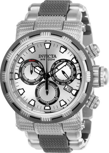 Invicta 23977 Men's Specialty Silver Dial Steel & Polyurethane Bracelet Chronograph Watch