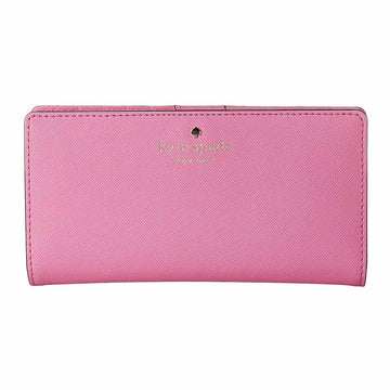 Kate Spade PWRU3905-679 Women's Cedar Street Stacy Rouge Pink Leather Continental Wallet