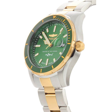 Invicta Men's Two Tone Bracelet Watch - Pro Diver Swiss Quartz Green Dial | 25816