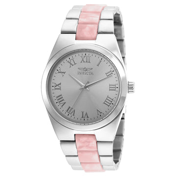 Invicta 20480 Women's Angel Silver Dial Steel & Pink Resin Bracelet Watch