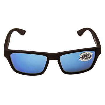 Costa Del Mar HNO01OBMGLP Women's Hinano Polarized Glass 580G Blue Mirror Lens Blackout Frame Sunglasses