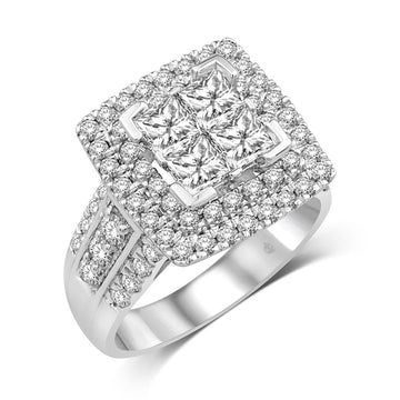 14K White Gold 2 1/3 Ct.Tw. Diamond Fashion Ring
