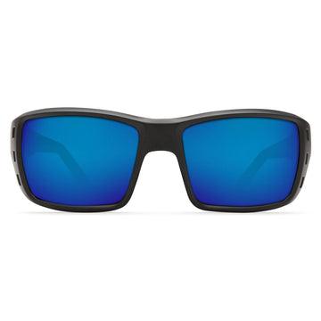 Costa Del Mar PT01OBMP Men's Permit X-Large Polarized Plastic 580P Blue Mirror Lens Blackout Frame Sunglasses