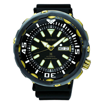 Seiko SRPA82K1 Men's Prospex Black Urethane Strap Black Dial Automatic Dive Watch
