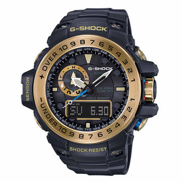 Casio Men's World Time Watch - G-Shock Dive Atomic Ana-Digi Black Dial | GWN1000GB-1A