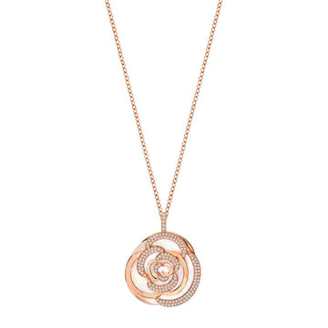 Swarovski Women's Pendant Necklace - Endearing Crystal Rose Gold Plated | 5208290