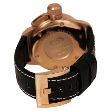 TW Steel CE1021 Men's CEO Canteen Black Dial Rose Gold Steel Black Leather Strap Day Date Watch