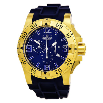Invicta Men's Excursion Chronograph Silicone Strap Watch - Swiss Blue Dial | 11903