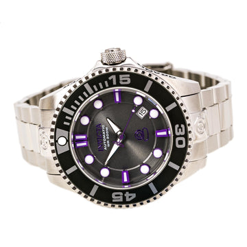 Invicta 19801 Men's Stainless Steel Bracelet Automatic Grand Diver Charcoal Dial Date Watch