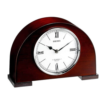 Seiko Desk Clock - Desk & Table White Dial Brown Wood Musical | QXW239BLH