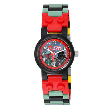 Lego Kids Watch Set - Star Wars Darth Vader & Boba Fett Plastic Bracelet | 8020813