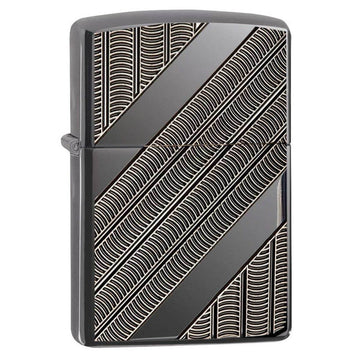 Zippo Windproof Pocket Lighter - Armor Coils Black Ice | 29422
